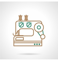 Sewing machine flat line icon vector
