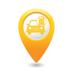 Cars canister map pointer yellow vector