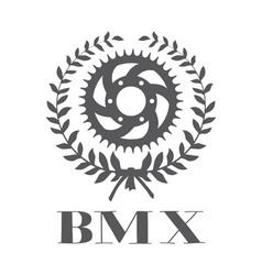 Bmx concept with cogwheel vector