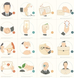 Business man concept icons vector