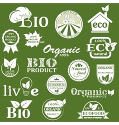 Natural organic product labels vector