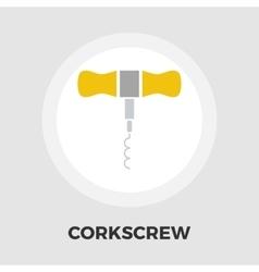 Corkscrew flat icon vector