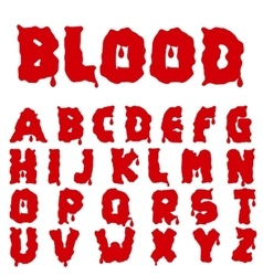 Red blood alphabet vector