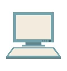 Desktop computer isolated icon design vector