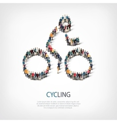 People sports cycling vector