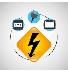 Electrical power icon vector