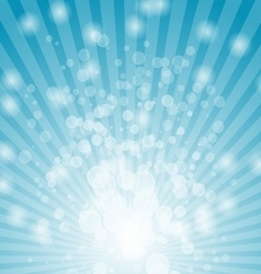 Abstract bokeh on blue background vector image