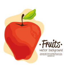 apple fresh and healthy fruit vector image