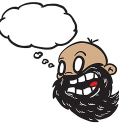 bearded bald man with thought bubble vector image