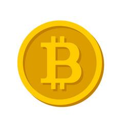 Bitcoin sign logo vector