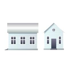 Blank house with siding vector