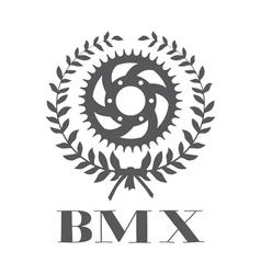 BMX concept with cogwheel vector image vector image