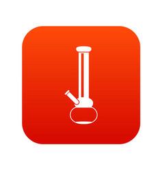Bong for smoking marijuana icon digital red vector