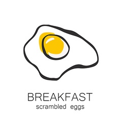 breakfast scrambled eggs vector image vector image