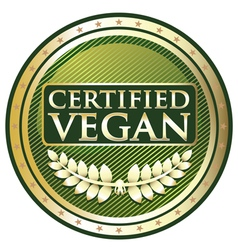 Certified Vegan vector image
