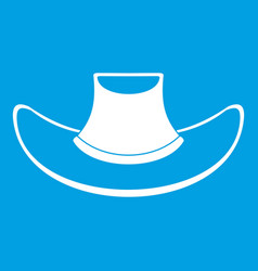 Cowboy hat icon white vector