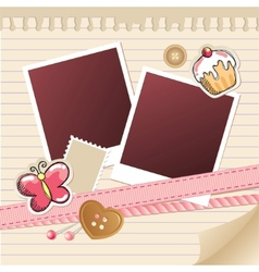 frame for photos vector image vector image