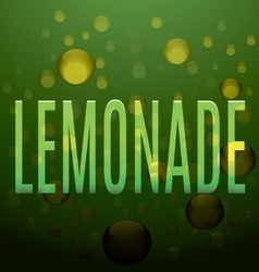 lemonade green text bubbles logo vector image vector image