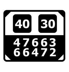 Match score board icon simple black style vector