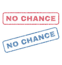 No chance textile stamps vector