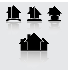 Real estate black vector image