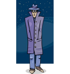 Sleuth or gangster cartoon vector