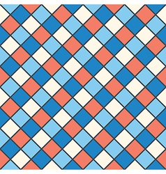 Squares red blue cream colour vector