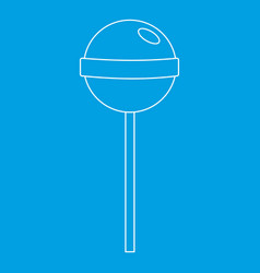 Tasty candy icon outline style vector