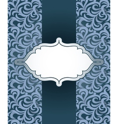 Vintage frame with pattern vector