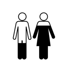 Woman and man pictogram icon image vector