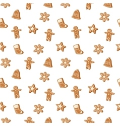 Christmas cookie seamless pattern icon vector