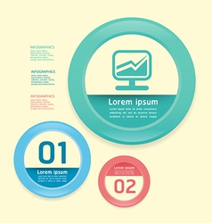 Modern Design circle soft colour template vector image
