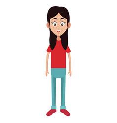 character female memeber family vector image