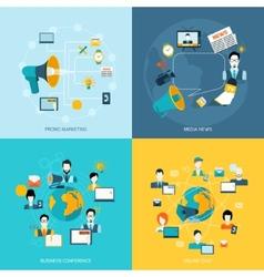 Communication icons set flat vector image