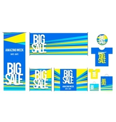 Set of template for big sales design vector