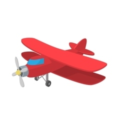 Biplane icon cartoon style vector