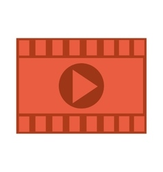 Film roll with play icon vector