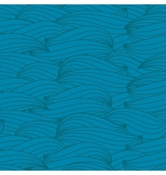 Abstract water waves seamless pattern vector