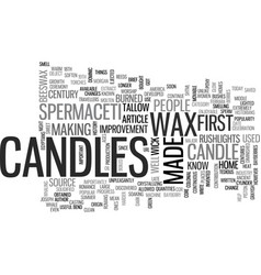 A brief history of candles text word cloud concept vector