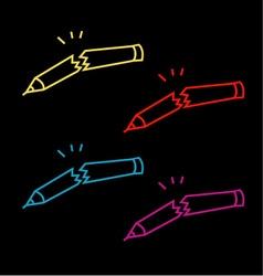A set of broken pencils- abstract logo vector