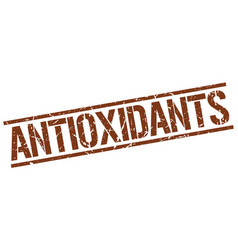 Antioxidants stamp vector