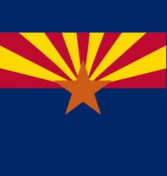 arizona state flag vector image vector image