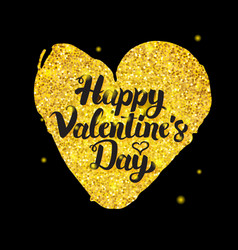 black gold valentine day vector image