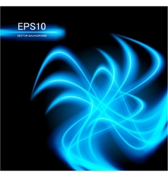 blue abstract glowing background vector image