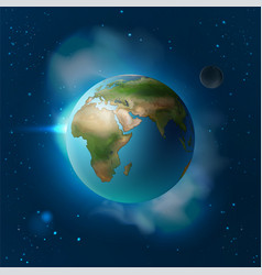 Blue planet earth vector