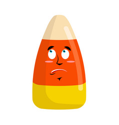 Candy corns surprised emoji sweet emotion vector
