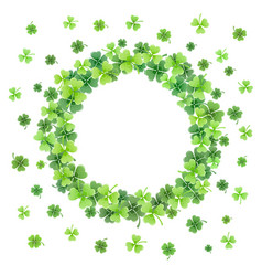 Clover leaves frame vector