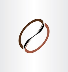 coffee bean stylized icon vector image vector image