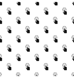 Cursor hand clicks pattern simple style vector image