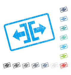 Divide horizontal direction icon rubber watermark vector